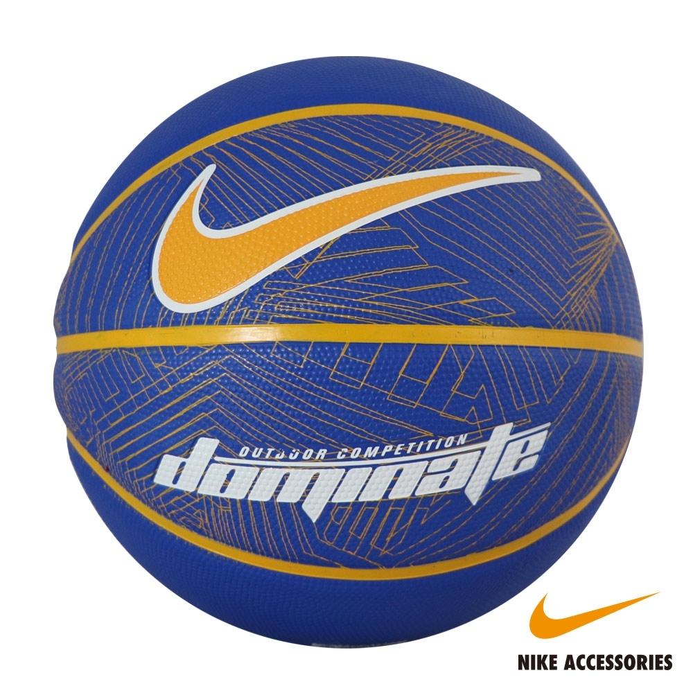 NIKE耐吉 DOMINATE 8P RUSH BLUE 7號籃球(藍底黃勾)