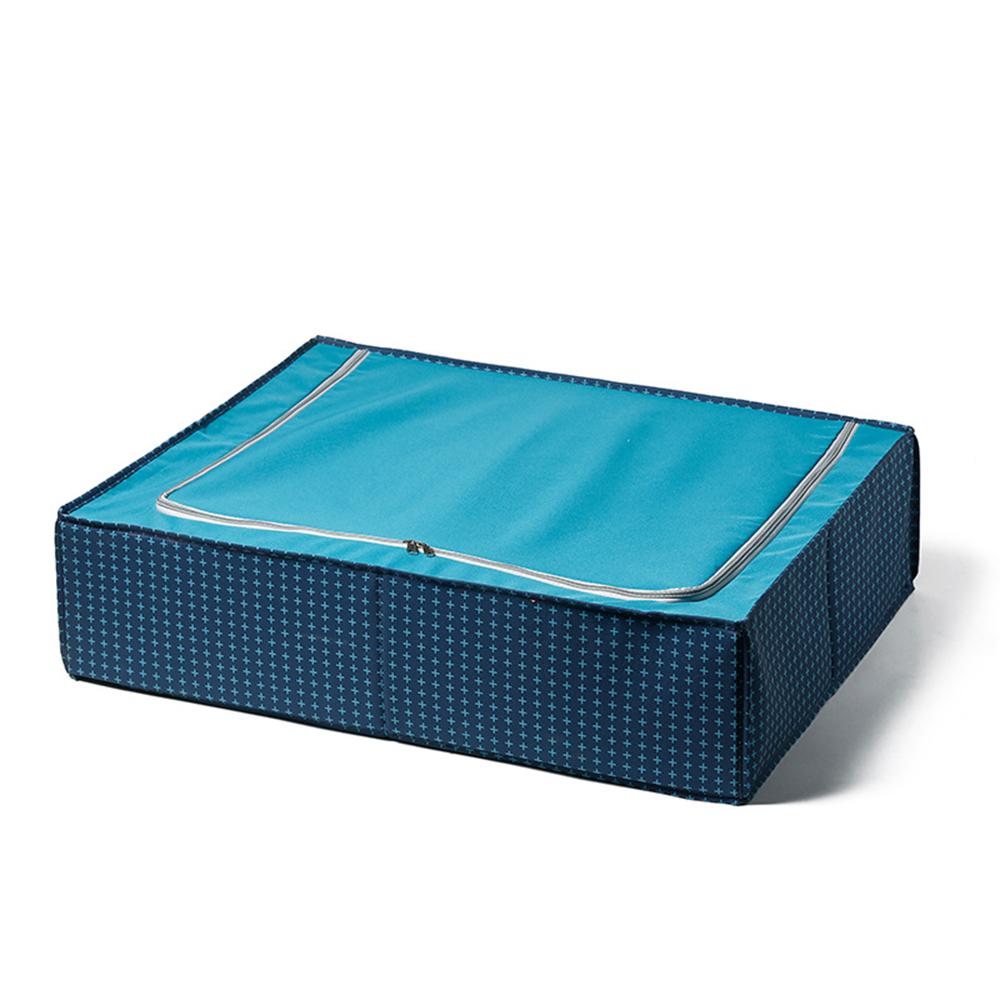 日系風格布藝床底抽屜式收納箱-深藍符號