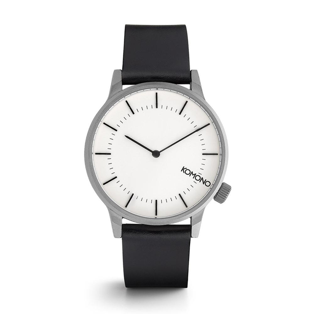 KOMONO Winston Regal 腕錶-銀白/41mm