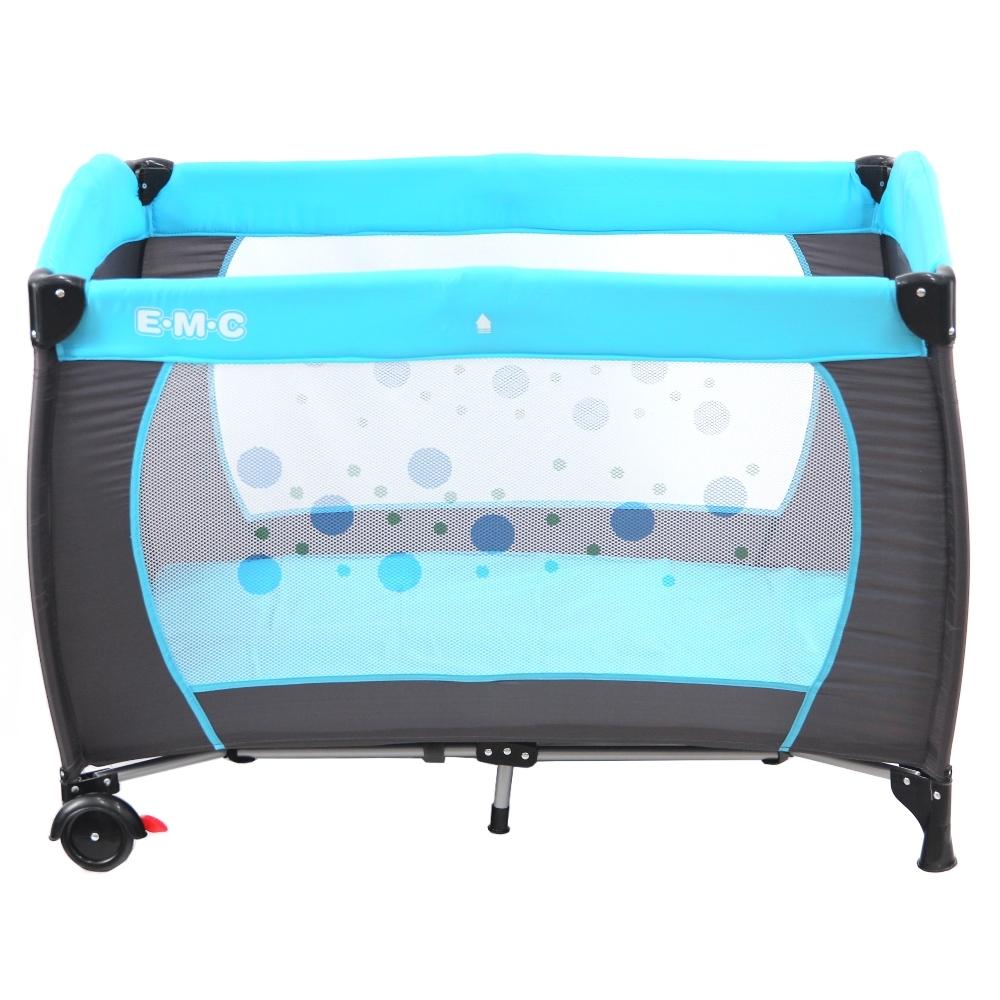 EMC 安全嬰兒床(具遊戲功能)(平安藍)