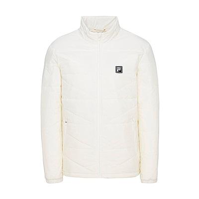 FILA 男款平織鋪棉外套-米白 1JKS-5103-IV