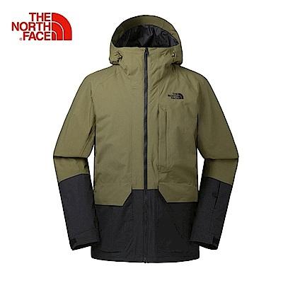 The North Face 男 DryVent 軍裝長版滑雪外套-NF0A39X1WMB