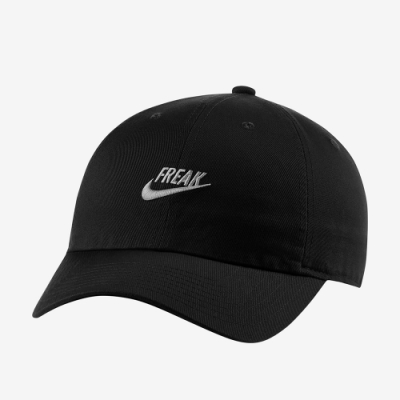 NIKE 帽子 棒球帽 老帽 休閒 運動 黑 CW5921010 GIANNIS H86 CAP FREAK
