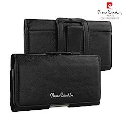 【Pierre Cardin】4.7吋通用款 極致品味橫式腰掛真皮手機套