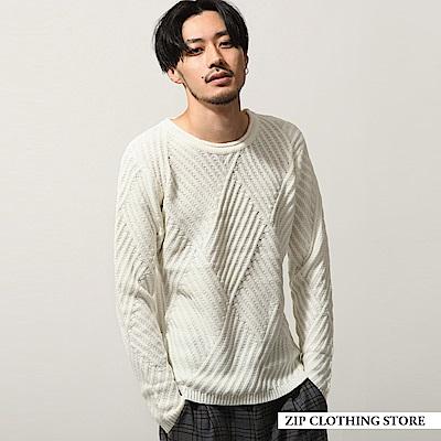 針織圓領毛衣(6色) ZIP日本男裝