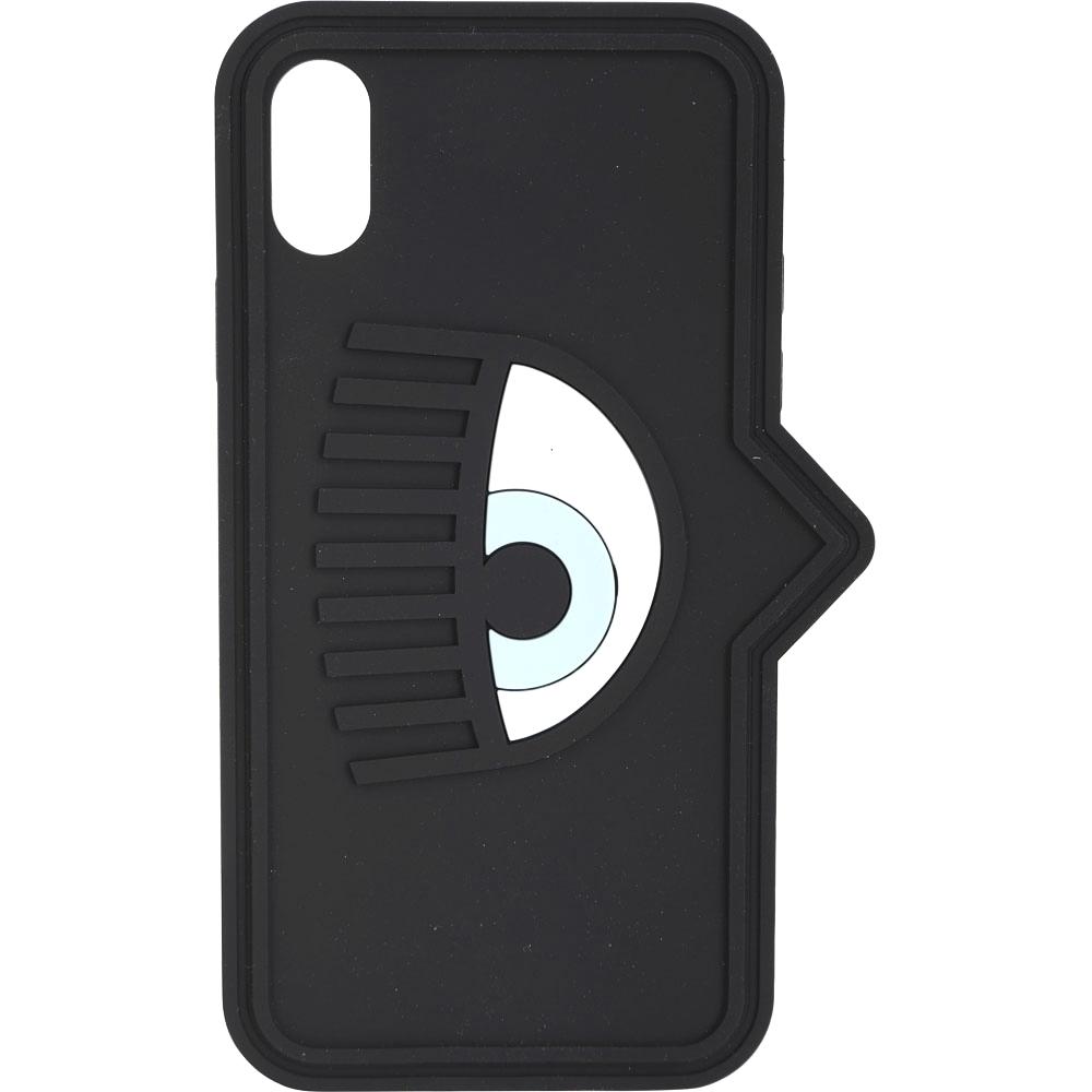 Chiara Ferragni iPhone X/XS 眼睛對話框造型手機保護套(黑色)
