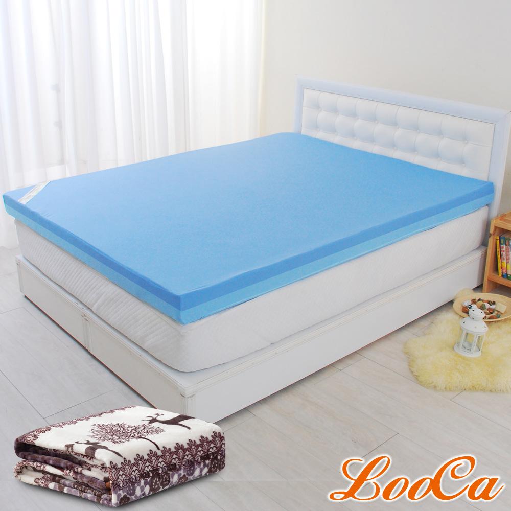 (開學組)LooCa 護理級雙效防水6cm記憶床墊-雙人5尺