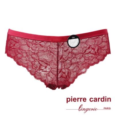 Pierre Cardin皮爾卡登 中低腰性感蕾絲三角褲-單件(RED紅)