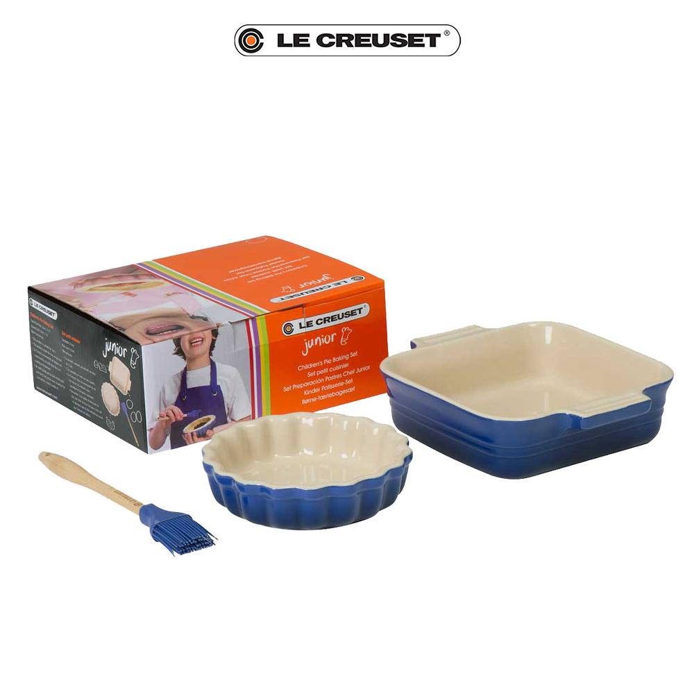 LE CREUSET 瓷器兒童烘焙組 (英國藍)
