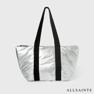 ALLSAINTS SLY 簡約實用雙色輕質兩用手提袋-銀/黑
