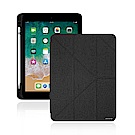 JTLEGEND iPad 2018 Amos 9.7吋 折疊布紋皮套(含筆插槽)