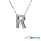 Just Diamond Love Words系列18K金鑽石墜子-R