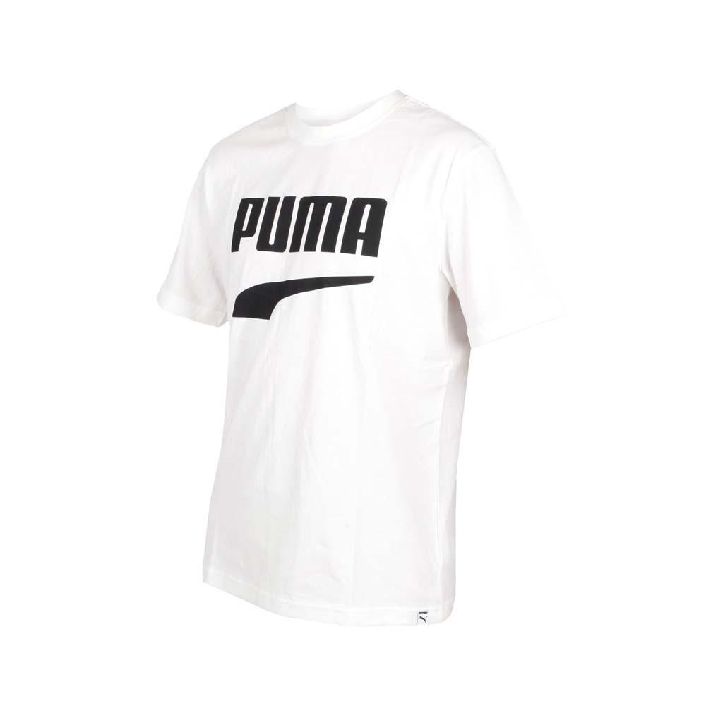 PUMA 男 流行系列Down town圖樣短袖T恤 白黑
