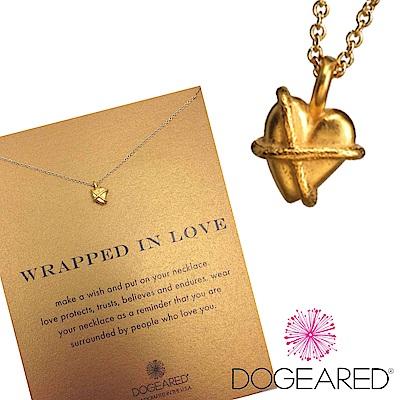 Dogeared 緞帶愛心 wrapped heart 愛的守護 金項鍊 附原廠盒