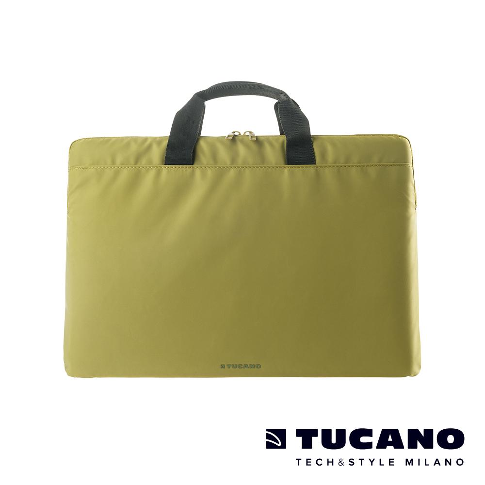 TUCANO MINILUX 極簡輕便尼龍手提內袋 13-14吋(可側背)-草綠