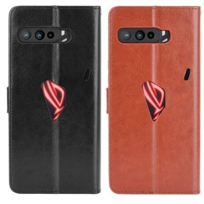 PKG 華碩 ASUS ROG Phone3 側翻式皮套-經典皮套系列-黑