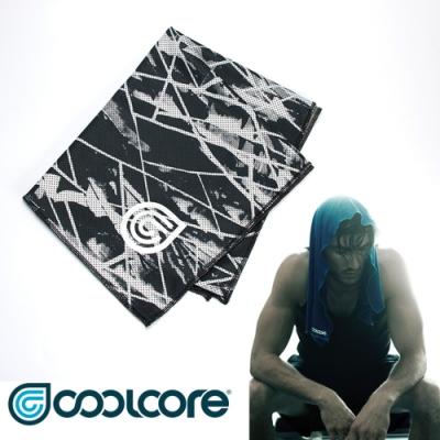 COOLCORE Chill Sport 涼感運動巾【印花系列 】黑色刻痕
