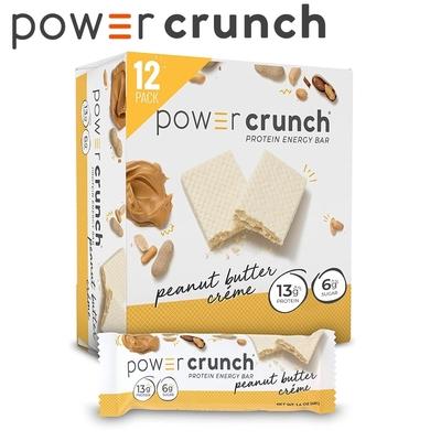 【美國 Power Crunch】Original 乳清蛋白能量棒 Peanut Butter Crème(花生醬奶油/12x40g/盒)