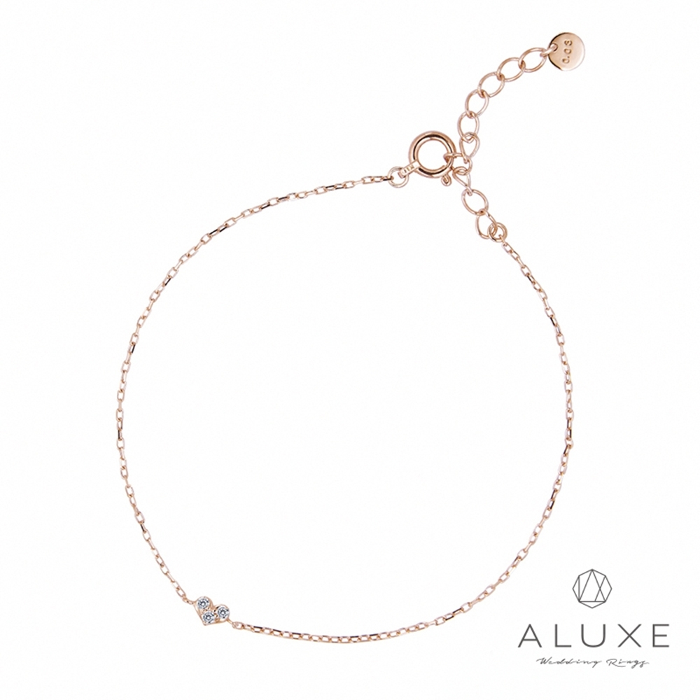 [時時樂限定]A-LUXE亞立詩-10K金甜蜜心情鑽石手鍊 原價4800