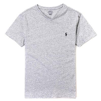 Polo Rlaph Lauren 經典電繡小馬V領素面短袖T恤-灰色