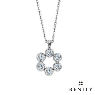 BENITY 樂音裊裊 白鋼 八心八箭cz美鑽 女項鍊