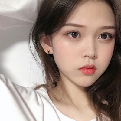 梨花HaNA 韓國925銀彩虹萬歲愛情至上耳環