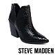 STEVE MADDEN-AYLSE 質感特殊紋粗跟踝靴-黑色 product thumbnail 1