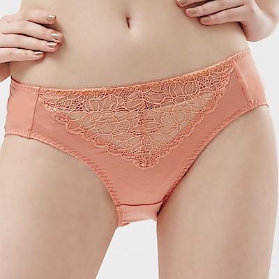 思薇爾 塞納河之謎系列M-XXL蕾絲中腰三角內褲(櫻鳟橘)