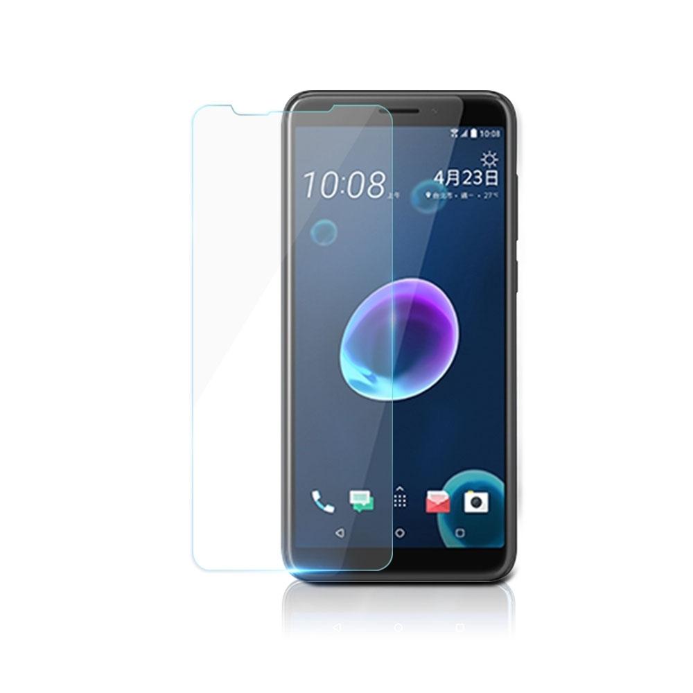 【鐵鈽釤鋼化膜】HTC D12 Plus高清透玻璃保護貼