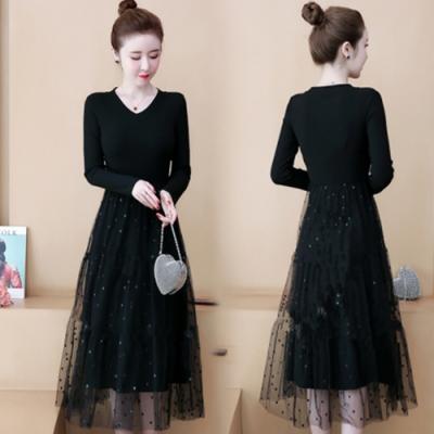 【韓國K.W.】(預購)自在穿搭針織穿搭洋裝-1色