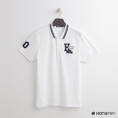 Hang Ten - 男裝 - logo滾邊領POLO衫 - 白