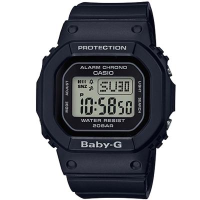 BABY-G復刻經典原型百搭流行設計休閒錶(BGD-560-1)黑色40mm