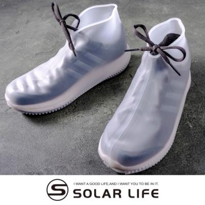 索樂生活 彈力矽膠防水鞋套M/防滑加厚款 雨鞋套