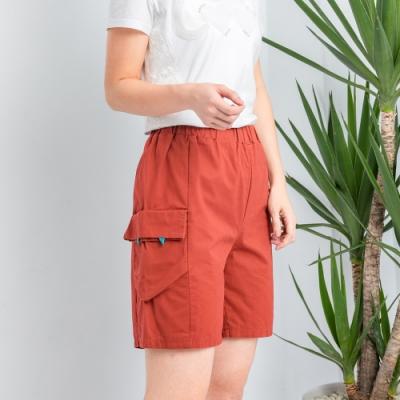 【白鵝buyer】 童趣口袋韓國製休閒褲_橘紅