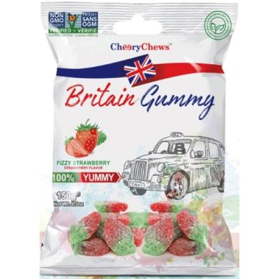 英國傳統風味軟糖(酸Q草莓風味)150G