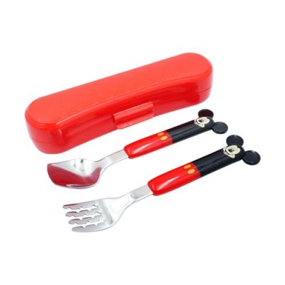 不鏽鋼造型匙叉組-米奇(附盒)