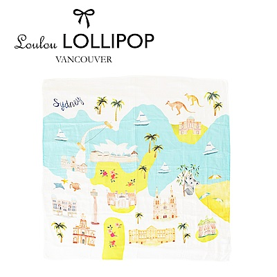 加拿大Loulou lollipop 竹纖維透氣包巾120x120cm-澳洲雪梨