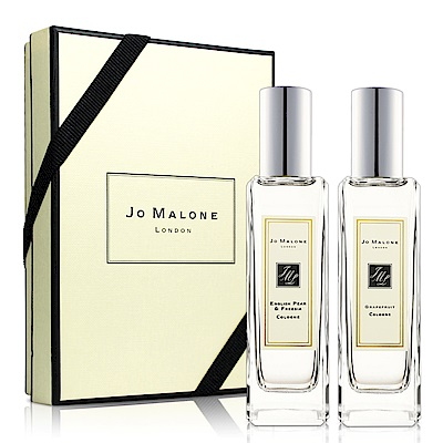 Jo Malone 淡香水2入組(英國梨與小蒼蘭香水30ml+葡萄柚30ml)-送品牌紙袋