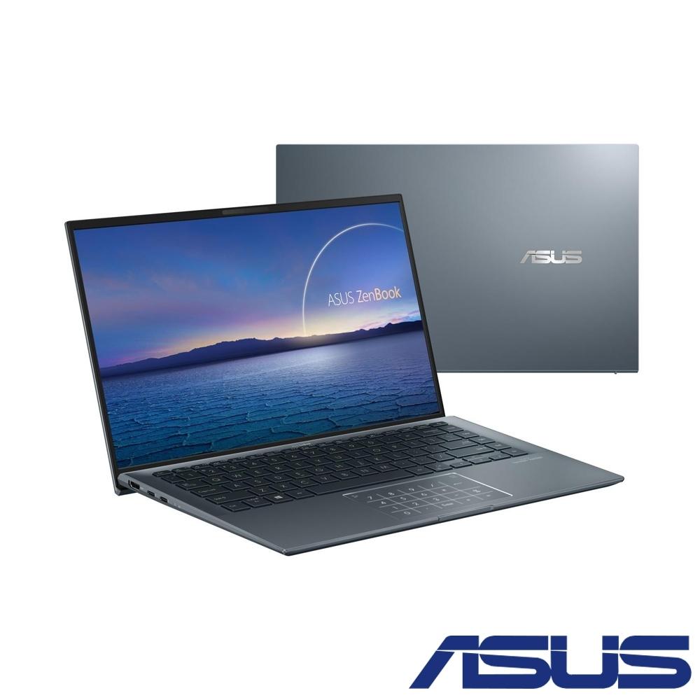 (含微軟365組合)ASUS UX435EGL 14吋筆電(i7-1165G7/16G/1TB SSD/MX450/ZenBook 14/綠松灰)