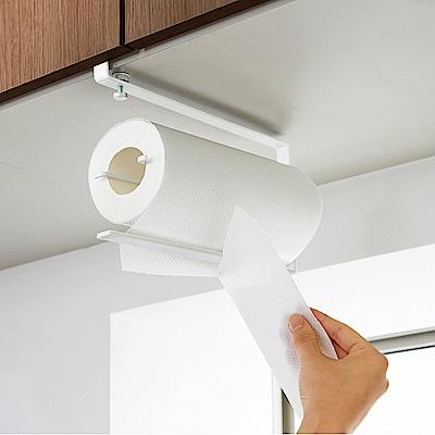 日本 YAMAZAKI-tower 可調式層板紙巾架-白★廚房用品/紙巾架/毛巾架