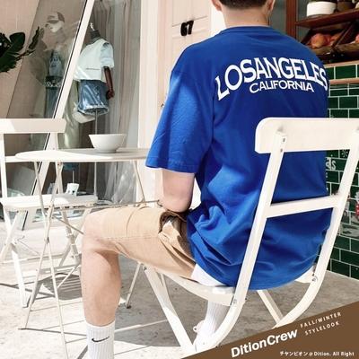 DITION 洛杉磯LOSANGELES西岸標語短袖上衣 落肩短T oversize 季後賽 NBA