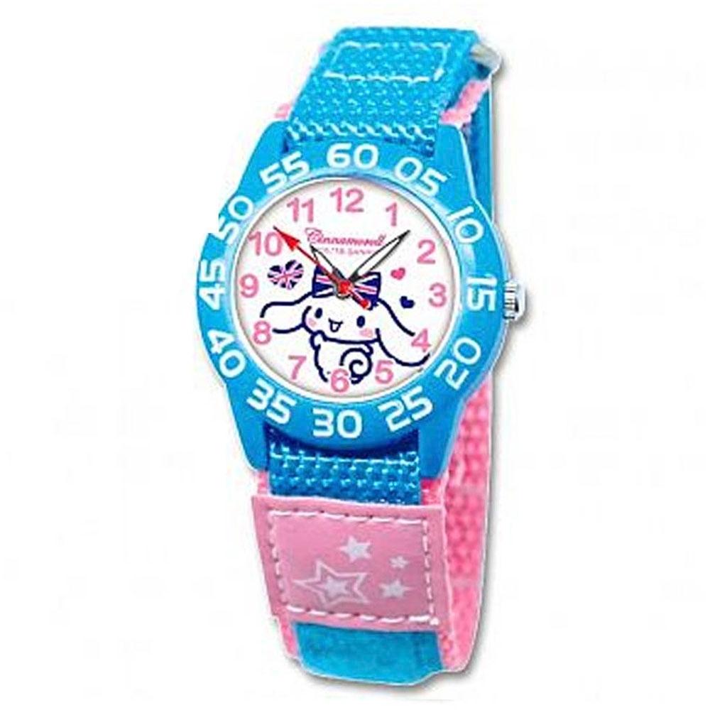 Sanrio三麗鷗自黏休閒織帶手錶33mm-大耳狗、喜拿、肉桂狗(兩款任選)