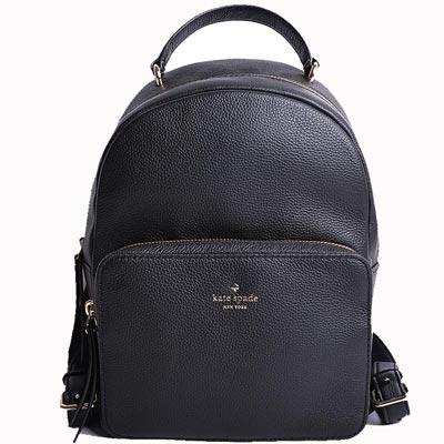 KATE SPADE mini nicole荔紋皮革後背包-經典黑