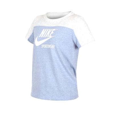 NIKE 女 短袖T恤 藍灰