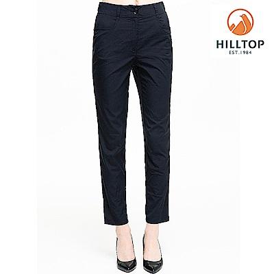 【hilltop山頂鳥】女款吸濕快乾抗UV彈性長褲S07FH1黑美人