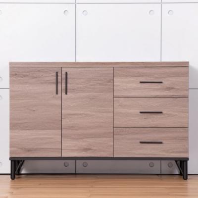 D&T德泰傢俱 BROOK淺胡桃木4尺餐櫃-120x40x79cm