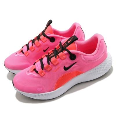 Nike 慢跑鞋 React Escape RN 運動 女鞋 輕量 透氣 舒適 避震 路跑 健身 粉 白 CV3817601