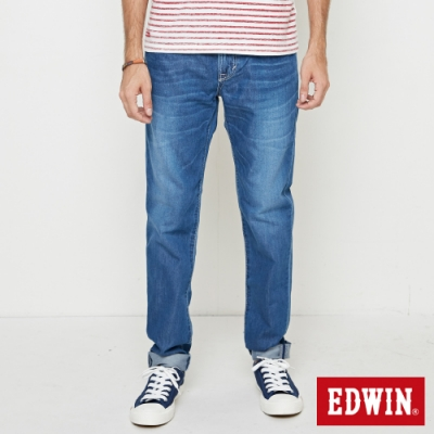 EDWIN 503 基本五袋式 窄直筒牛仔褲-男-中古藍