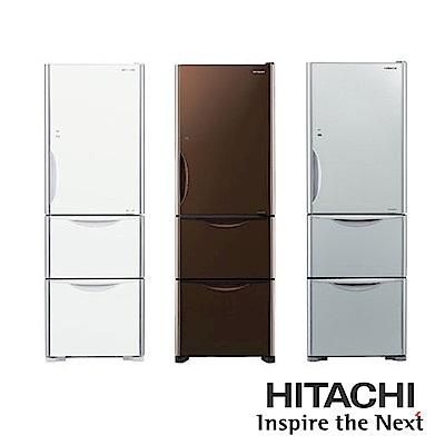 [無卡分期-12期]HITACHI日立394公升三門琉璃電冰箱RG41A