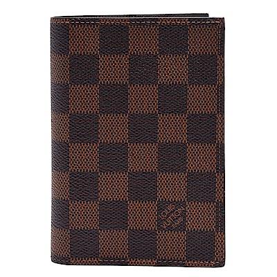 LV N64412經典Damier棋盤格印花帆布護照夾